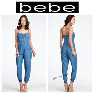 Bebe Chambray Jumpsuit